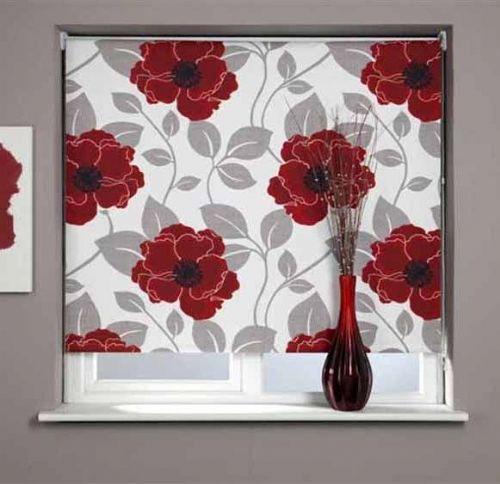 Universal Patterned Blackout Roller Blind - Papavero
